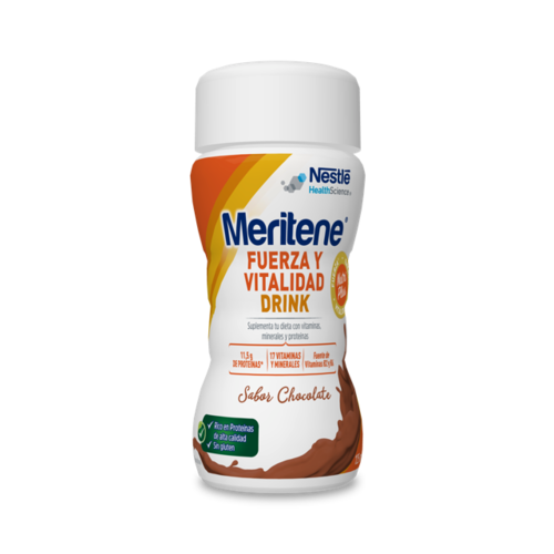 MERITENE ACTIV CHOCOLATE 4 BOTELLAS 125 G